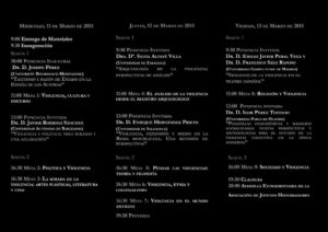 Programa del Congreso Las violencias y la historia