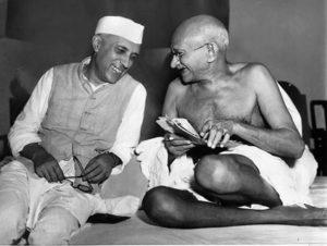 Nehru y Gandhi, artífices de la independencia de la India.