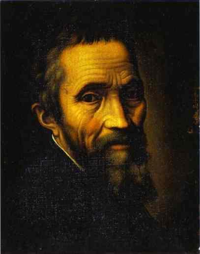 Retrato de Miguel Ángel por Marcello Venusti