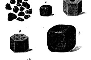 Formas diferentes de los granos de pólvora