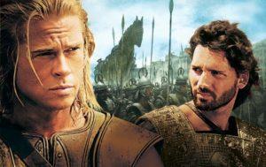 """Aquiles y Héctor según la película """"Troya"""""""