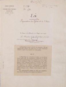 La Ley de separación de la Iglesia y el Estado