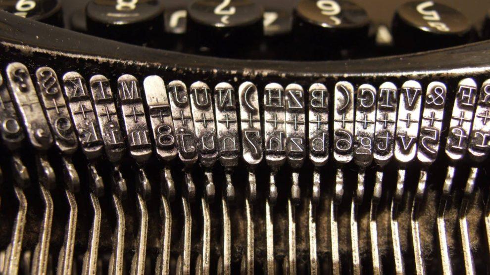 Caracteres de una máquina de escribir