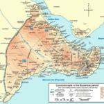 Mapa de la Constantinopla bizantina