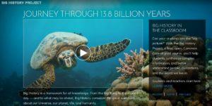 Captura de la web de 'Big History Project'