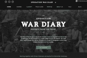 Captura de la página web de Operation War Diary.