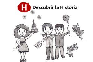 Ilustración del primer aniversario de Descubrir la Historia (Gala Narváez)