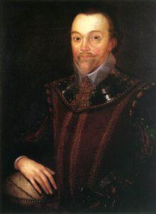 Sir Francis Drake retratado por Marcus Gheeraerts el Joven (Wikimedia)