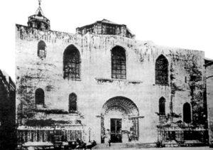 Este era el aspecto de la Catedral de Barcelona antes y después de su reforma