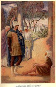 En este cuadro de W. Mathews de 1914 se muestra dicho encuentro