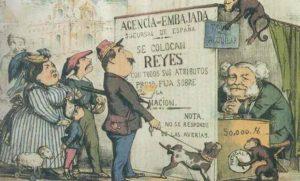 """Isabelinos y carlistas buscando la posibilidad de """"colocar"""" a sus respectivos pretendientes al trono"""