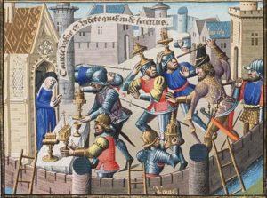 Representación medieval del saqueo de Roma