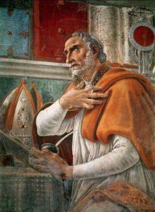 Retrato de San Agustín, por Sandro Botticelli (1480)