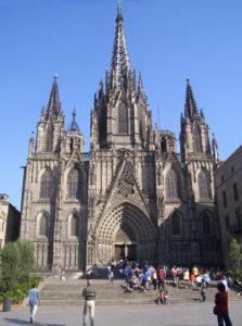 Fachada actual de la Catedral de Barcelona
