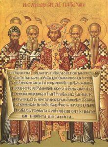 Icono conmemorativo del I Concilio de Nicea