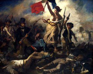 «La libertad guiando al pueblo», Delacroix, 1830.