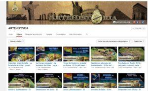 Canal de Youtube de ArteHistoria.