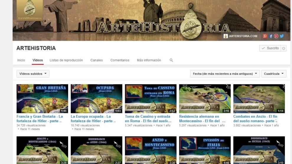 Canal de Youtube de ArteHistoria
