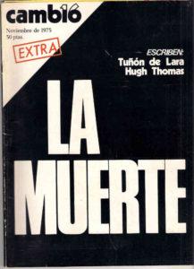 Cambio 16, número extra sobre la muerte de Franco