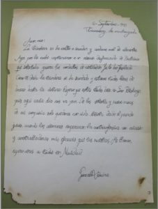 Carta del alumno Gonzalo Rivera