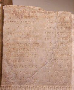 Fragmento de un calendario romano