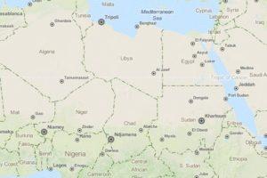 Norte de África y Oriente Próximo (Open Street Map)