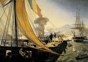 Bombardeo de San Juan de Ulúa visto desde la corbeta francesa La Créole.