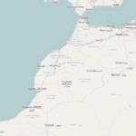 Mapa en el que se puede ver la frontera entre Marruecos y Argelia (Open Street Map).