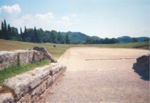 Restos del estadio de Olimpia en la actualidad