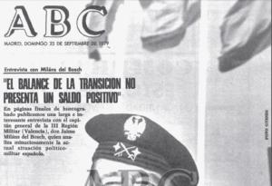 Entrevista de 1979 al futuro golpista Milans del Bosch.