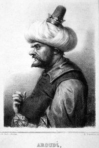 Grabado que representa a Baba Aruj, «Barbarroja»