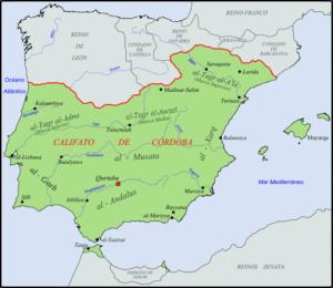 El Califato de Córdoba en el año 1000 (Wikimedia).