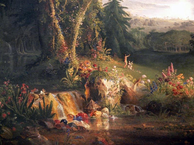 «El jardín del Edén», de Thomas Cole