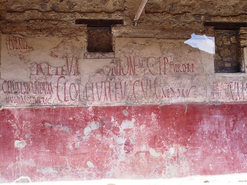 Inscripción de una taberna pompeyana