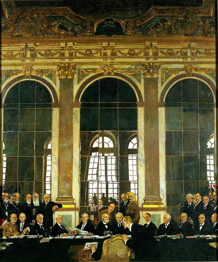 Condiciones y consecuencias del tratado de versalles for Salon los espejos
