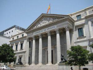 Sede del Congreso de los Diputados, en Madrid.