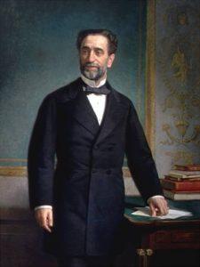 Retrato de Práxedes Mateo Sagasta, líder del Partido Liberal