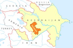 Situación de Armenia, Azerbaiyán y el enclave de Nagorno Karabaj.