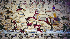 Ahmose I (Dinastía XVIII) derrotando a los hicsos hicsos - Ahmose I Dinast  a XVIII derrotando a los hicsos 300x168 - Egipto y la invasión de los hicsos