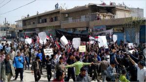 Primeras manifestaciones contra el gobierno sirio durante la «primavera árabe».