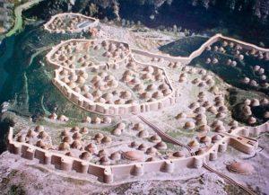 Recreación de Los Millares (Wikimedia).