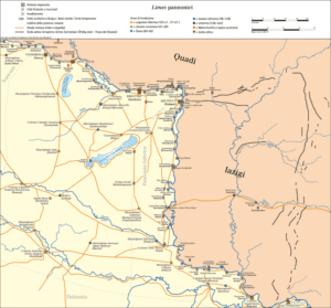 Limes romano en Pannonia (Wikimedia).