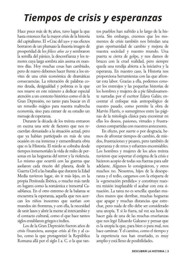 Editorial número 3 Descubrir la Historia.