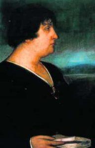 Retrato de Carmen por Julio Romero de Torres en 1917
