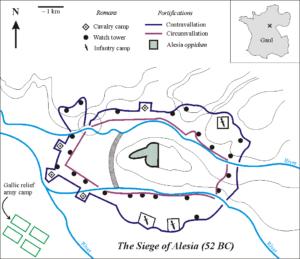 El Sitio de Alesia (Wikimedia).