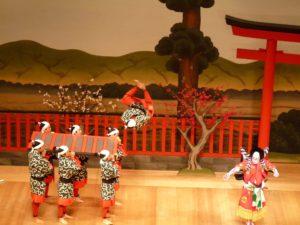 Escena de una representación teatral de Kabuki en la actualidad