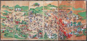 Recreación pictórica de la batalla de Sekigahara realizada durante el periodo Edo