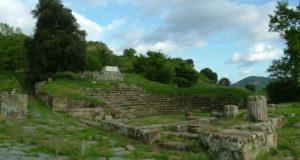 Vista del teatro romano de Tusculum (Wikimedia). ciudadanía - Tusc teatro  - La ciudadanía romana: características y evolución