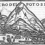 Cerro Rico según Pedro Cieza de León, 1553 (Wikimedia).