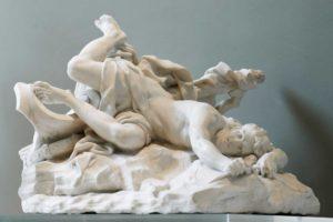 'La muerte de Hipólito' (1715), obra del escultor Jean-Baptiste Lemoyne (1679-1731).